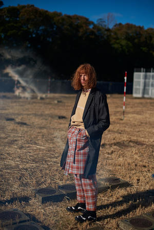 Name. : PLAID COTTON ZIP COAT & WAFFLE THERMAL TURTLENECK - BIRTH DAY
