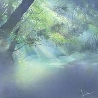 斜光 水彩画 - はるさき水彩画blog