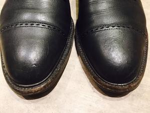 つま先のボコボコは直ります - 銀座三越5F シューケア&リペア工房<紳士靴・婦人靴・バッグ・鞄の修理&ケア>