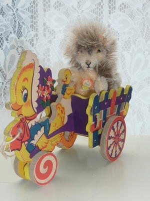 ヴィンテージ Dolly Toy アヒルのプルトイ -