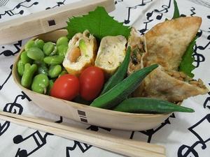 ふたを開ける愉しみ・・・薬味入り納豆とチーズの揚げ餃子 -