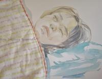 寝顔を水彩クロッキー - miwa-watercolor-garden