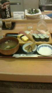 寿司正で昼食 -