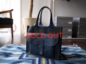 SORRY,SOLD OUT AGNES BADDOO BLACK LEATHER X NAVY POCKET -