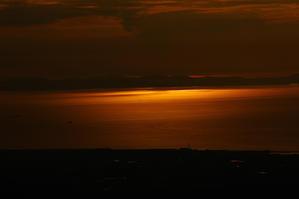 大阪湾の夕日 -
