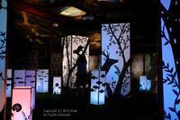 清流の森@「和のあかり×百段階段展~日本の色彩 日本の意匠~」 - カメラをもってふらふらと