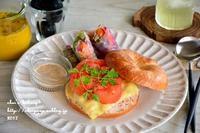 トマトとツナのベーグルサンド - *sheipann cafe*
