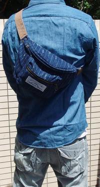 ウォバッシュ生地のデニム ウエストバッグRankS☆アメカジファッション - アメカジ、古着、ミリタリーファッションのブログ