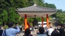 中国蘇州市の寒山寺から贈られた「楓橋夜泊」の碑の除幕式に参加してきました。 -