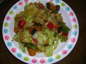 かぼちゃと野菜のカレ炒め - ふみノート