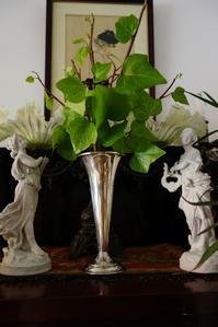英国製シルバープレートラッパ型花瓶 - スペイン・バルセロナ・アンティーク gyu's shop