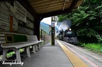 ある駅の蒸気機関車 - 蒸気をおいかけて・・・少年のように