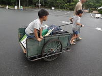 豪雨の家族キャンプ - ordinary days