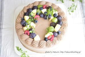 21cmのチョコケーキ - honey+Cafe