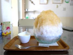 白桃のかき氷 【鵠沼海岸 Kohori-noan 埜庵(のあん)】 - ぶらり湘南