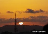 夕日を浴びて - オット、カメラ(と自転車)に夢中