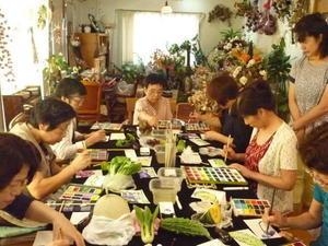 えみ子の絵手紙教室  8月 - ギャラリー・雑貨 心