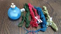 網袋の色、4色完了 - よしのクラフトルーム