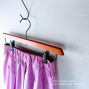 クロスタックのフレアスカート purple pink - petit bonheur~おはりごととかいろいろ~