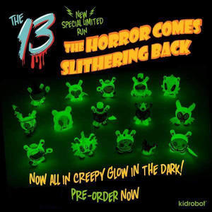 The 13: The Horror Comes Slithering Back Dunny Series - 下呂温泉 留之助商店 入荷新着情報