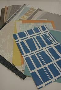 壁紙サンプルの活用方法と、建築と廃棄の関係性。 - YUNO INTERIOR DESIGN