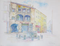 ひさびさの水彩画・Place du Terrail - ときどき日誌 sur NetVillage