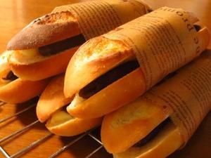 ソフトフランスパンを焼いて、あんバターサンド♪ - la la la kitchen 2 ♪