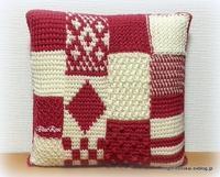 アフガン編みのクッション仕上げました♫ - ルーマニアン・マクラメに魅せられて