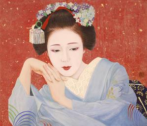 「想」日本画 10号F(45.5×53,0㎝)岩絵の具 箔 紙本 - 黒川雅子のデッサン  BLOG版