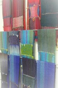 オーバーショット、袋織りマフラー - テキスタイルスタジオ淑blog