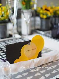「8月のテーブルコーディネート&おもてなし料理レッスン」始まりました! - ATELIER Let's have a party ! (アトリエレッツハブアパーティー)         テーブルコーディネート&おもてなし料理教室