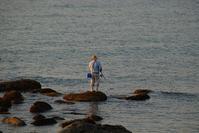 夕暮れの釣り人 - 信仙のブログ