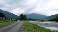 猛暑の中に秋を感じる風吹く大井川 - バイク玉手箱