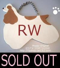 SOLD OUT THANKS! Moppyトールペイント コッカーシルエット型ドアプレート RW - アメコカ州コッカ村 ★コッカーグッズ★犬雑貨のお店★