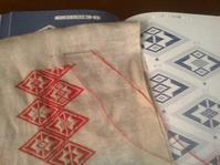 べこのくら(牛の鞍) - 手編みバッグと南部菱刺し『グルグルと菱』