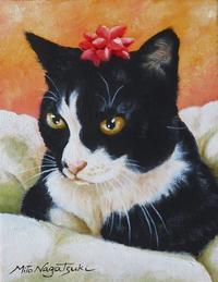 猫の似顔絵 完成納品 - 油絵画家、永月水人のArt Life