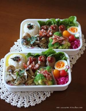きのこのアヒージョでパスタ(? ̄? ̄?)♪ - **  mana's Kitchen **