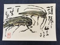 亀石滝子絵手紙教室2017-8 - ギャラリーとーちきの夢布布日記