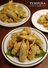 過去最高の出来!な野菜天ぷら3品。バンバンジー風サラダ。 - Kyoko's Backyard ~アメリカで田舎暮らし~