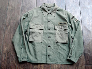 NEW : Nigel Cabourn [PARATROOPER SHIRT] SATIN×HANDLE EMBROIDERY×HERRINGBONE 2017FALL !! - HOME TOWN STORE River Side