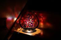 ナゲットのランプ - ステンドグラスルーチェの日常