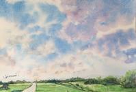 「雲」   水彩画  その3 & 唐辛子 - ポッと出っスけど杉山ひとみ/水彩画ブログ