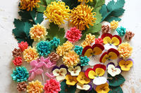 シートフェルトで作る簡単なお花たち - ビーズ・フェルト刺繍作家PieniSieniのブログ