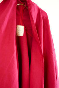 【オーダー】リネン・カシスのショートジャケット - A M R i T A   /  ア ム リ タ