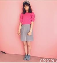 西野七瀬さんのピンクMIXコーデが可愛い♪新木優子さんはグリーンのスカートで秋コーデにシフト!  #tittyCo.  #西野七瀬 #ピンク - *Ray(レイ) 系ほなみのブログ*