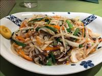 野菜たっぷりあんかけ焼きそば@広味坊 日本橋三越店 - 人形町からごちそうさま