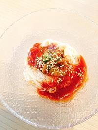 素麺でピビンククス&インスタグラム - 今日も食べようキムチっ子クラブ (我が家の韓国料理教室)