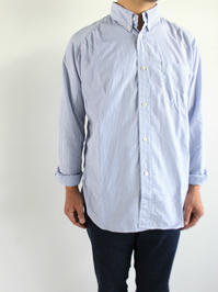 Sans limite BUTTON DOWN STRIPE SHIRT - FREEDOM SLEEVE / TRIPLE NEEDLE - 『Bumpkins putting on airs』