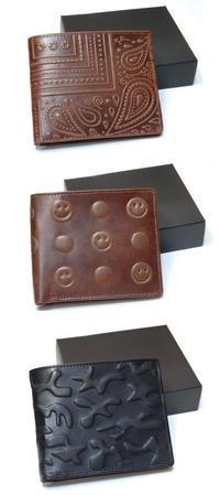 男性用牛革財布の柄のデザインをさせていただきました - 筆耕アーティスト 道口久美子 BLOG