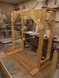 うんていNタイプW1500×H1700×D850 ブランコ式ぶら下がり練習棒 可動式登り棒2本 - MAGINU STYLE by Art Furniture Gallery